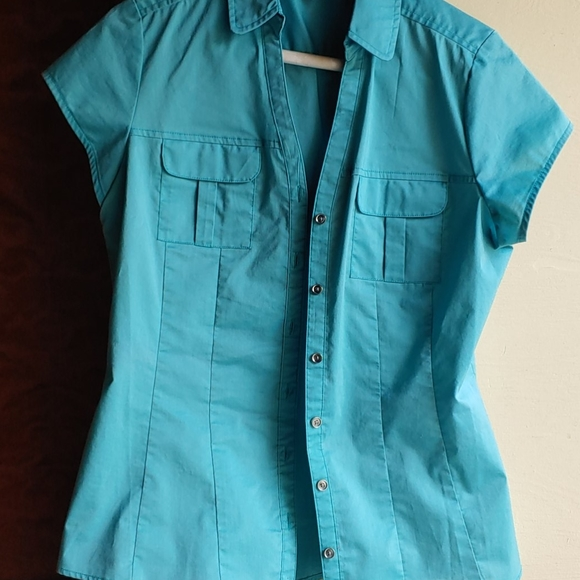 Size 4-6 Turquoise Snappy Blouse
